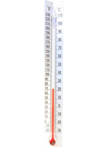 Ajax Scientific TH013-0110 Termómetro de doble escala con parte trasera de metal, rango de temperatura de -30 a -110 grados C, para interior/exterior