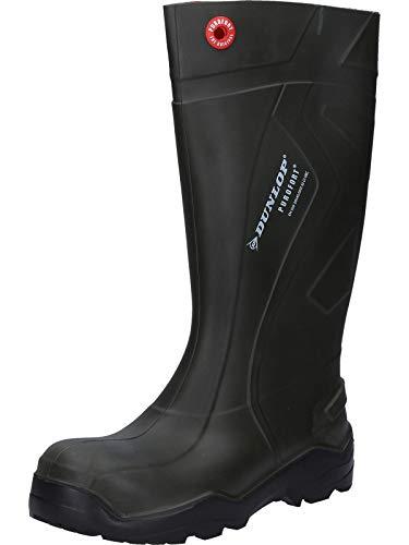 Dunlop C762933 S5 PUROFORT+ Unisex-Erwachsene Langschaft Gummistiefel, Dunkelgrün/Schwarz, 42 EU