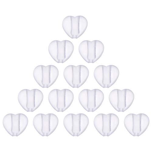 SOIMISS 300 Stücke Herz Kordelklemme Silikon Kordelstopper Schnürsenkel Stopper Verschluss Cord Stopper Cord Lock für DIY Mundschutz Hut Rucksack Koffer