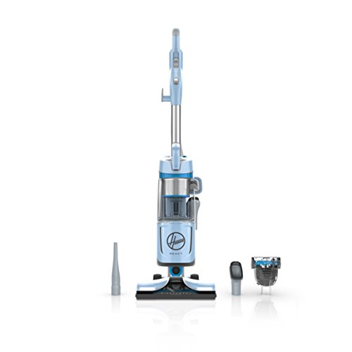 Hoover React QuickLift Bagless Upright Vacuum Cleaner, with HEPA Media Filtration and Portable Lift Canister, 25ft Power Cord, UH73300PC, Blue