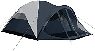 Pacific Pass Camping Tent 6 Person Family Dome Tent with Screen Room & Removable Rain Fly, Easy Set Up for Camp Backpacking Hiking Outdoor, Navy, 120.1120.168.9 inches