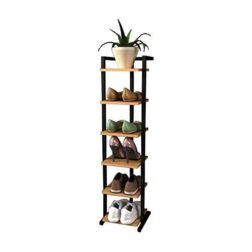 TONGSH Zapatero Banco Rack de Zapatos Simple Multifuncional, baño y Ahorro de Espacio para el hogar, múltiples Capas, Simple y Moderno, gabinete de Zapatos (Size : 6 Tier)