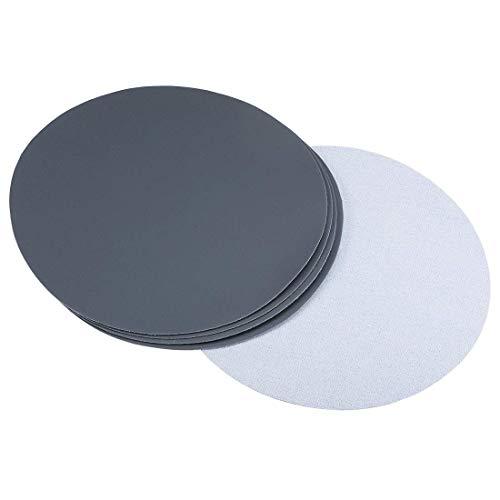 Disco de lijado de gancho y bucle de 8 pulgadas Carburo de silicio húmedo/seco, grano 1500, 5 piezas