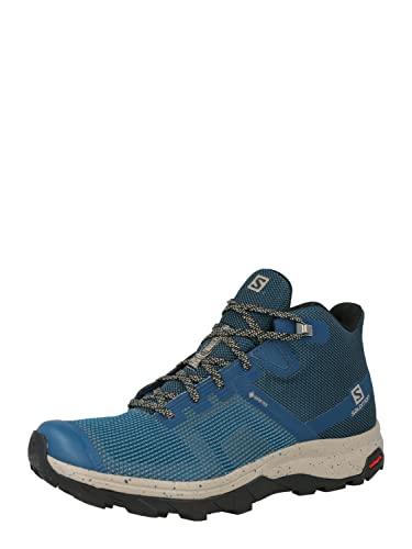 Salomon Outline Prism Mid Gore-Tex (impermeable) Hombre Zapatos de trekking, Azul (Legion Blue/Vintage Kaki/Safari), 44 2/3 EU