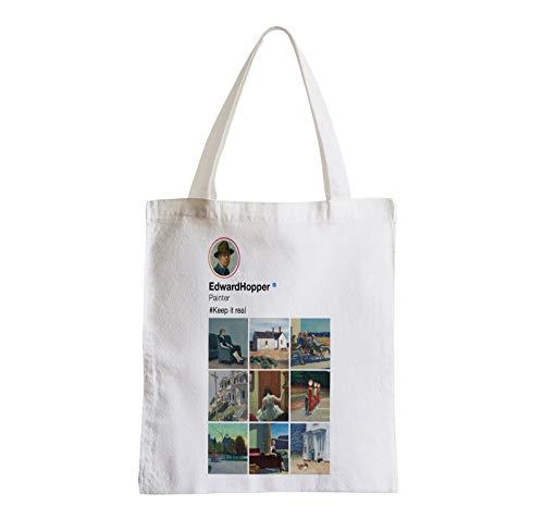 fabulous Große Tasche Sack Strand Schüler Edward Hopper Soziale Netzwerke Malerei Realismus