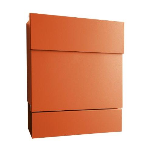 Letterman V Briefkasten Wandversion mit offenem Zeitungsfach - orange
