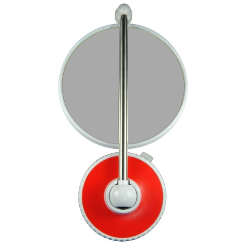 TWISTMIRROR Miroir Intelligent grossissant 10x Couleur: Rouge Intense