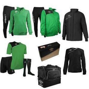 Umbro Kit 699 Calcio (Nero/Verde, XL)