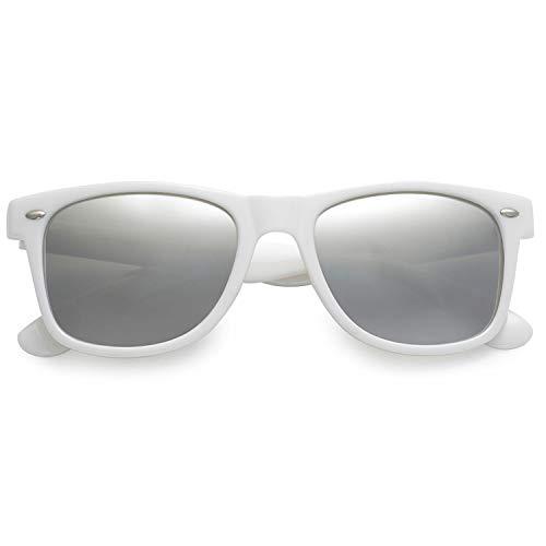 Polarspex - Gafas de sol polarizadas unisex, estilo retro, clásico de los 80, Blanco (blanco, (Gloss White | Ice Tech)), Talla única