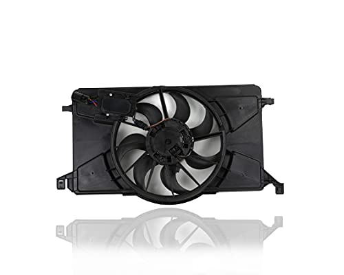 Engine Cooling Fan Assembly - Pacific Best Inc. Fit/For FO3115189 12-18 Ford Focus 2.0L Without Turbo