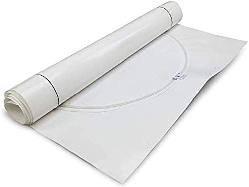 Zip-Up Products Poly Zipper Hatch Door with Tape - 30' x 48' Dust Containment / Weather Protection Kit with Heavy Duty 10ML Poly Construction & Easy Access Double Sided Zipper Sliders - H30x48-T2W, White