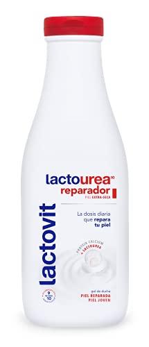 Lactovit - Gel de Ducha Reparador Lactourea, para Pieles Secas y Extra Secas - 600ml