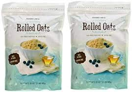 Trader Joes Rolled Oats Gluten Free 2-lb Bags (Pack of 2)