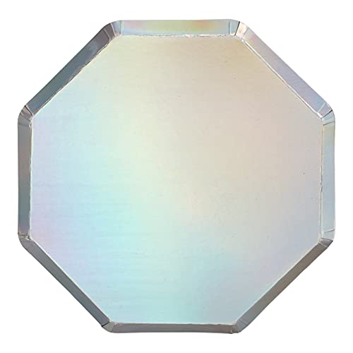 Meri Meri Silver Holographic Dinner Plates