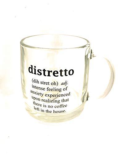 "Luminarc ""Distretto"" Quote Coffee Glass Nordic Mug 13 Oz"