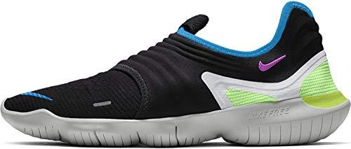 Nike Herren Free Rn Flyknit 3.0 Leichtathletikschuhe, Mehrfarbig (Black/Hyper Violet/Laser Orange 000), 42.5 EU