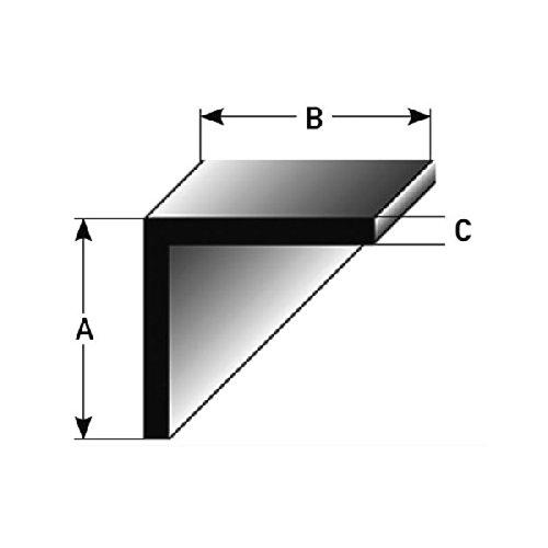 2 mètres Cornière / Profilé de montage 20 x 20 x 2 mm , Fabriqué en aluminium