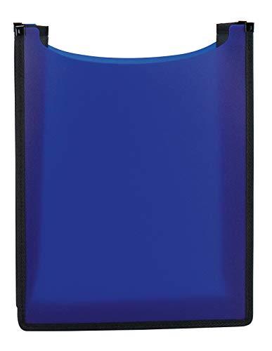 HERMA 19481 Heftbox Flexi DIN A4 (35 x 26 x 7 cm, aus transluzenter PP-Folie, oben offen) Kinder Heftebox für Hefte und Schnellhefter im Schulranzen und Rucksack, blau