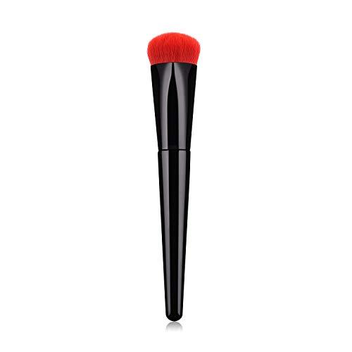 Lot de 2 pinceaux de maquillage en forme de cœur avec manche noir et rouge