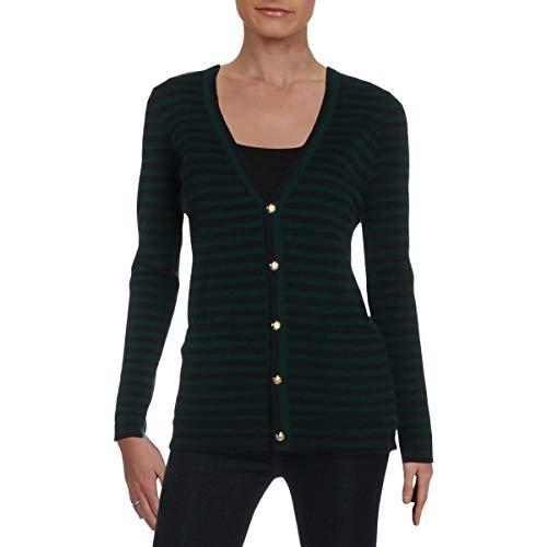 LAUREN RALPH LAUREN Anneka Women's Cashmere Button Up Cardigan Green Size S