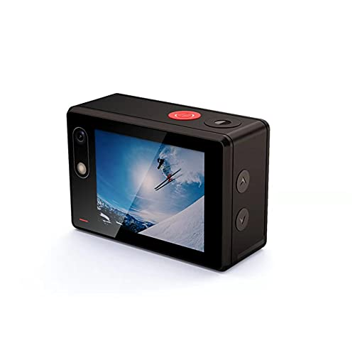 XJPB 4K 16MP Cámara de acción 16MP Cámara a Prueba de Agua subacuática 170 ° WiFi de Gran Angular Deportes CAM Sola Pantalla/cámara Dual con Accesorios de Montaje Remoto Kit