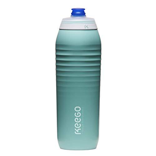 KEEGO (Celestial Mint | Die Evolution der Sportflasche | Elastisches Titan | Schützt for Plastik im Wasser | Leicht und quetschbar | Reiner Geschmack | einfache Reinigung