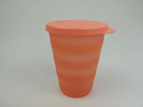 TUPPERWARE Junge Welle 15544 - Vaso con pajita (330 ml), color naranja pastel