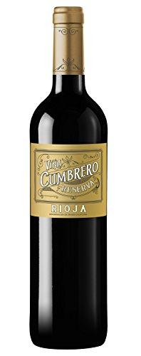 Vino Tinto Reserva D.O Rioja marca Viña Cumbrero Reserva -1 botella de 75cl