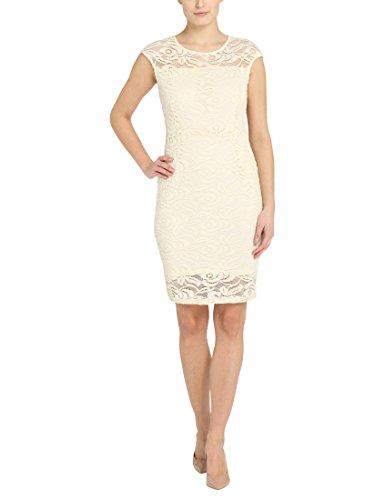 Berydale Damen Etui Kleid BD310, Knielang, , , , Gr. 42 (Herstellergröße: XL), Mehrfarbig (Creme/Champagner Creme/Champagner)
