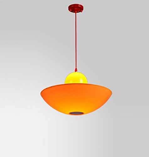 GAING Ristorante a LED Lampade a Sospensione in Vetro Creativo Singolo Orange Fungo Lampadario Moderno Bar Coffee Shop KTV Illuminazione Decorativa E27 110v 220v, a