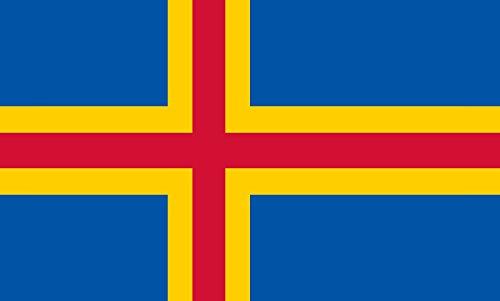Unbekannt magFlags Tisch-Fahne/Tisch-Flagge: Åland 15x25cm inkl. Tisch-Ständer