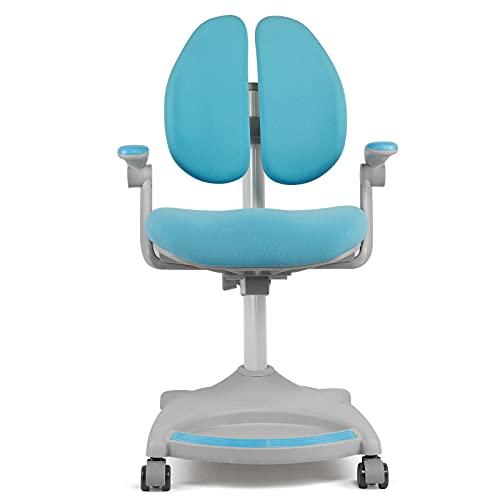 EVTSCAN Silla de Estudio para niños, sillón ergonómico de Aprendizaje Infantil de Altura Ajustable para la Escuela en casa(Azul)