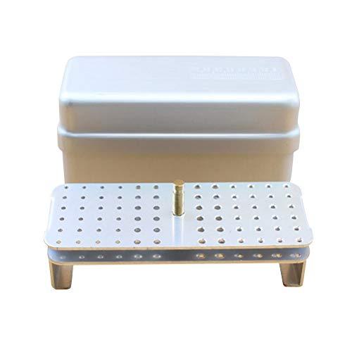 SUPVOX Caja de desinfección para el cuidado bucal de 72 agujeros Agujeros Autoclave Esterilizador Caja de Fresas Dentales Equipo Dental herramientas de cuidado oral blanco