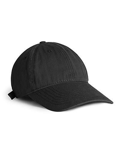 FURTALK Toddler Baseball Hat Kids Boys Girls Adjustable Washed Cotton Baseball Cap with Ponytail Black