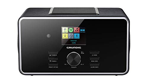 "Grundig DTR 6000 2.1 BT DAB+ WEB ""All-in-one""-Internetradio mit Bluetooth, Multiroom und Empfang Schwarz"