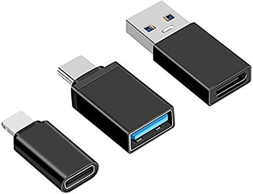 Juego de 5 adaptadores USB-C a USB 3.0, USB-C (macho) a USB...