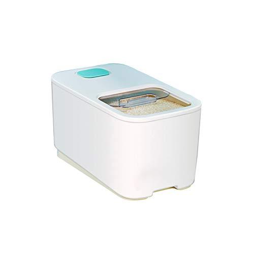 YUMEIGE Caja de almacenamiento de cosméticos Cubo de arroz de 20 kg, cubo sellado a prueba de insectos y a prueba de humedad, caja de fideos de arroz, caja de almacenamiento de arroz, caja de arroz pa