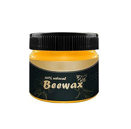 JINJO Wood Seasoning Beeswax Household Polishing Furniture Care Wood Cleaning Polished Chairs Cabinets Wear-Resistant Wax (A)