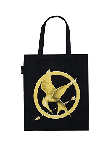 Bolsa de transporte de lona com tema literário e livro para amantes de livros, leitores e bibliófilos, The Hunger Games, O/S