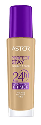 Astor Perfect Stay 24h Make Up plus Perfect Skin Primer, 302 Deep Beige, per stuk (1 x 30 ml)
