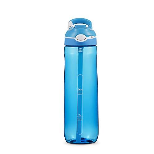 ZXYZZ Hakengreep-afbotsingsmondstuk met vergrendelingsknop Fitness Sportbeker met rietje plastic beker 750 ml