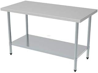 Table Inox avec Etagère Démontable - Gamme 700 - Combisteel - 1400x700
