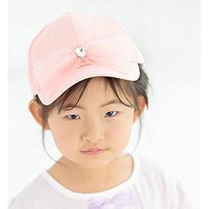 キッズ キャップ 子供 帽子 ガールズ メッシュ キャップ 女の子 子供 小学生 通園 通学 UV対策 熱中症対策 日除け帽子 サイズ調整可 日よけ 可愛い プレゼント ギフト キッズ 帽子 キャップ 春夏 (ピンク, 54(52-54cm))