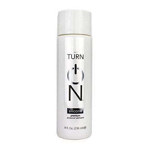 Turn On Personal Silicone Based Lubricant, 8 Ounce Bottle for Smooth Skin, Easy Clean-Up, and No Sticky Mess