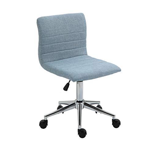 SVITA Linus Schreibtischstuhl Kinder Drehstuhl Stoffbezug Blau