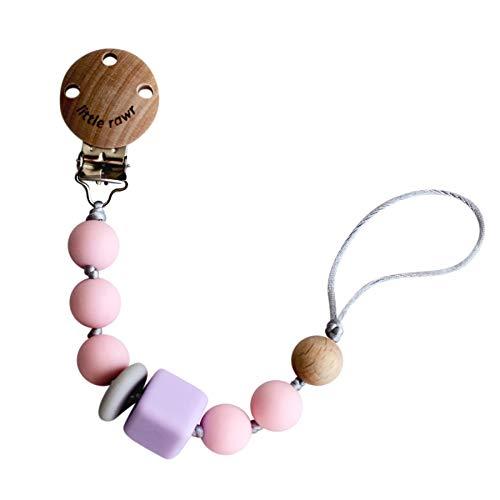 Arichtop Clip Sucette en bois pour b/éb/é environnement Perles Chewing b/âton cadeau dentition Porte-b/éb/é Jouet