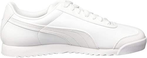 Puma Roma Basic, Herren Sneaker, Weiß(Weiß (white-light gray)), 42.5 EU (8.5 UK)