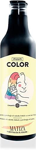 muum - Champú Color Matizado. Repara y protege el cabello teñido o con mechas. Hidrata en profundidad y realza el brillo - 500 ml.