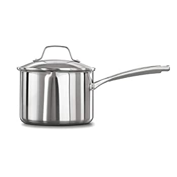Calphalon Classic Stainless Steel 3.5-Quart Sauce Pan with Cover