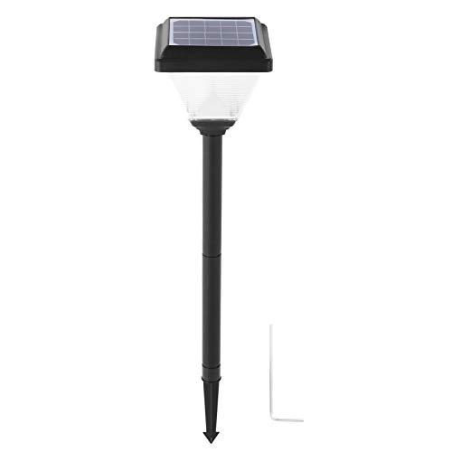 Luz LED para suelo de césped Fácil de instalar Luces de paso Seguro de usar Luz solar para jardines Patios Céspedes Balcones(Warm white light)